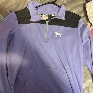 Vs pink purple half zip